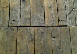 floor boards with polish